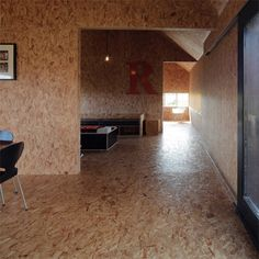 Decor and furniture using OSB - oriented strand board PG Bison