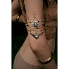 Atlacamani, Goddess Of Oceanic Storms Armlet RESERVED ❤ liked on Polyvore featuring jewelry, armband jewelry, arm cuff jewelry, polish jewelry and aztec jewelry