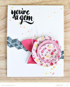 You're a gem by pixnglue at @studio_calico - handmade card