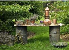 A perfect spot for making tinctures in the garden. Perfection! Instagram @witch.of.the.north