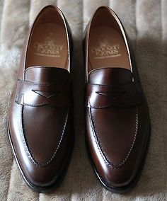 35d5d80e1c9 New Crockett   Jones Mens Shoes Dark Brown Sydney Loafers UK 7.5E US 8.5E