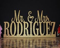 Sweetheart Table Decor Mr and Mrs sign Valentine Day Gift   Etsy Wedding Chair Signs, Wooden Wedding Signs, Wedding Chairs, Custom Wood Signs, Wooden Signs, Wedding Centerpieces, Wedding Decorations, Decor Wedding, Wedding Reception