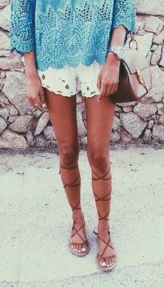 #summer #fashion / crochet + crochet