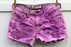 High Waisted Levi Pink Tie Dye Cut Off Shorts by BreckBlues :)