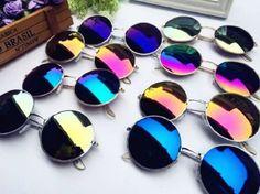 NEW-Unisex-Vintage-Retro-Men-Women-Round-Metal-Frame-Sunglasses-Glasses-Eyewear