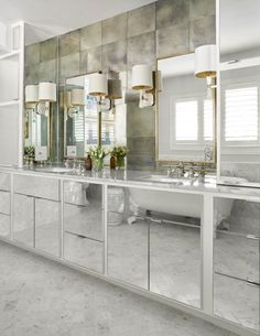 Style Profile: Amy Berry - The Glam Pad Mirror Cabinets, Cabinet Doors, Linen Cabinet, Vanity Cabinet, Contemporary Bathrooms, Modern Bathroom, Marble Bathrooms, Bathroom Ideas, Ikea Bathroom