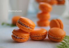 orange macarons