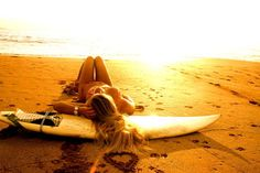 I've surfed before, but I want to learn how to surf good and spend the whole day on the beach.