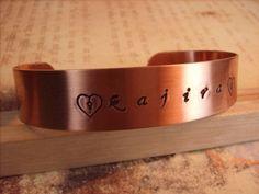 Kajira Copper Cuff Bracelet by aislinnscollared on Etsy