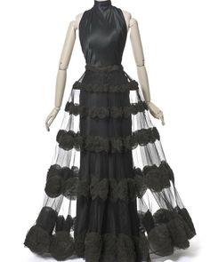 Silk satin evening dress by Madeleine Vionnet, 1936. Les Arts Décoratifs