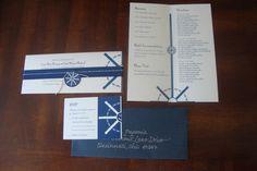Nautical Wedding Invitations by Cara Hyland, via Behance