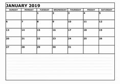 14 best blank 2019 january calendar printable template excel images