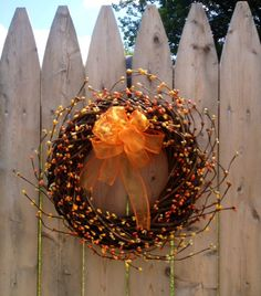 Pip Berry Wreath Fall Woven 10 inch by BunchesOfBerries on Etsy, $20.00