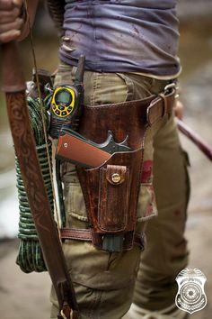 Lara Croft Tomb Raider Belt Pistol Holster by AnotherLittleShop