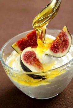 Try the Ultimate Greek Breakfast: Greek Yogurt Honey and Figs