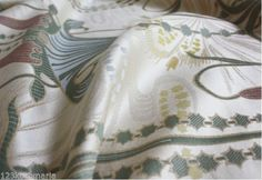 Jugendstil upholstery fabric Möbelstoff Art Nouveau Ruepp Paris Blumenmuster in Crafts, Fabric | eBay