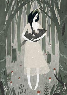 Mama Wolf Art Print by Alexandra Dvornikova | Society6