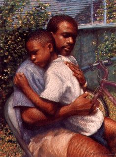 Beautiful Father's Day Song for Men Who Lost Children to Abortion Black Art Painting, Black Artwork, Black Love Art, My Black Is Beautiful, Simply Beautiful, African American Artwork, African Art, Family Photos With Baby, Black Fathers