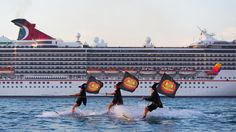 A coven of waterskiing witches descended on Sydney Harbour yesterday morning to welcome the Carnival Spirit as it arrived into port. Sporting black hats, flowing capes and flying brooms, the athletic witches swooped on the 88,500-tonne Carnival Cruise Line ship by sea and by air, creating a magical sight for the 2600 guests onboard, as well as …