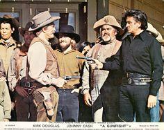 In 1971, Johnny Cash appeared in the western drama A Gunfight alongside Kirk Douglas.
