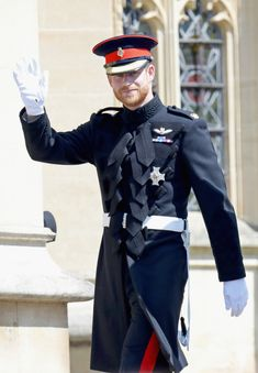 Prince Harry arrives at the wedding of Prince Harry to Meghan Markle at St George's Chapel, Windsor Castle in Windsor, England - May 19, 2018