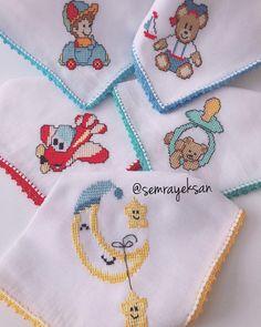 Günaydınlar...hepinize sağlıklı, mutlu, bereketli haftalar diliyorum 🙋♀️🙋♀️🙋♀️ Baby Knitting Patterns, Baby Patterns, Sewing Patterns, Cross Stitch For Kids, Cross Stitch Baby, Cross Stitch Embroidery, Cross Stitch Designs, Cross Stitch Patterns, Embroidery Stitches