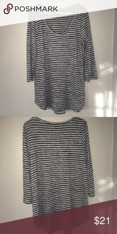 Maurice's- top Good condition! Size Large. 3/4 length sleeves. Very very soft and comfy. Black and white Maurices Tops Tees - Long Sleeve