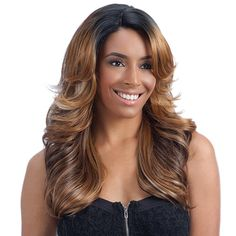 FreeTress Equal Synthetic Lace Front Wig Lace Deep Diagonal Part Lena