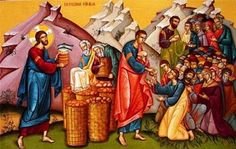 FRIDAY: Second Week of Easter Acts Christ, the Church and the Eucharist Christ, the Church and the Eucharist are one. Miracles Of Jesus, Maundy Thursday, Sunday Sermons, Thanksgiving Prayer, Byzantine Icons, Early Christian, Christian Art, Eucharist, Orthodox Icons