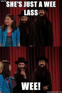 "aha... Drake and Josh. Classic. ""Pippip a doodleie doo!"""