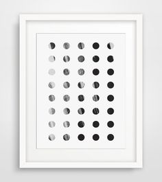 Dot Art, Polka Dot Art, Black and White Dots, Dot Print, Polka Dot Wall Art, Black Geometric Art, Dot Pattern, Printable Wall Art