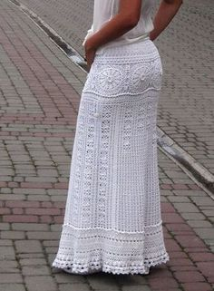 Blanco falda maxi falda de novia bohemio falda falda larga blanca crochet falda algodón falda boho vestido encaje falda crochet vestido de Novia de la boda Con la enagua. La cinturilla es elástica. > color: blanco o su elección (por favor, póngase en contacto con conmigo) > material: 100% algodón > tamaño: Caderas de XS-S - 32-35 pulgadas/82-88 cm Caderas de M - 36-38 pulgadas/90-98 cm Caderas de L - 39-43 pulgadas/100-110 cm Falda: su elección (por favor, póngas...