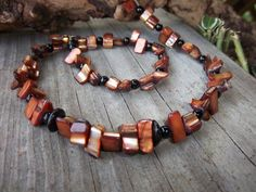 Aura Brown Shelled Necklace