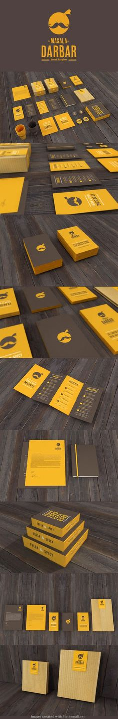 This branding for Indian restaurant Masala Darbar was created by Jekin Gala