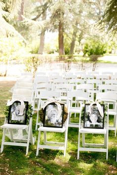 In Memory of wedding chair idea to remember loved ones that have passed / http://www.deerpearlflowers.com/ways-to-honor-deceased-loved-ones-at-your-wedding/