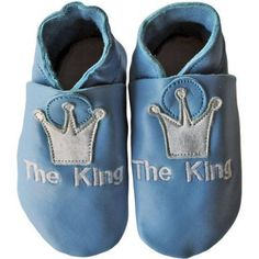Silly Souls Newborn Baby King Blue Leather Shoes, Newborn Boy's, Size: 12 - 18 Months