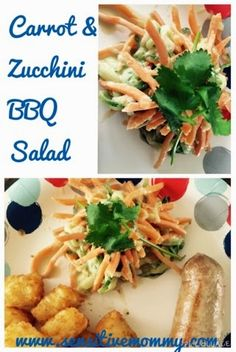 Carrot Zucchini BBQ Salad -- perfect for a summer side dish!
