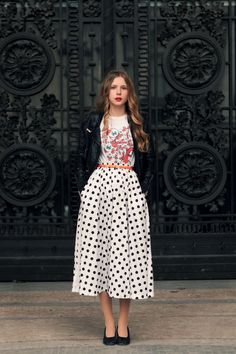 polka-dot and floral and over all perfect