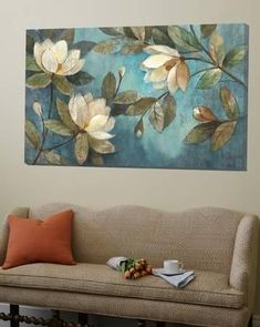 art quadros Loft Art: Floating Magnolias by Albena Hristova : Magnolia Paint, Acrilic Paintings, Wall Art Pictures, Painting Inspiration, Flower Art, Framed Artwork, Art Drawings, Canvas Art, Wall Decor