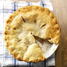 Blue-Ribbon Apple Pie Recipe -This pie is special to me because I won a blue ribbon for it at the local fair and was able to compete at the state farm show. —Collette Gaugler, Fogelsville, Pennsylvania