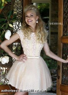 Short white dress with tulle skirt