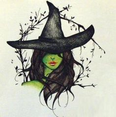Witch in green