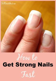 how to strengthen your nails. I've been using this DIY solution for a week and am already seeing results. Brittle nails, be gone!