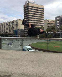 gives a twist on his parkour skills. Parkour, Skate