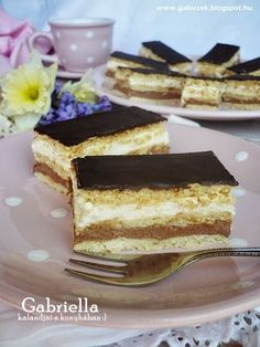 Gabriella kalandjai a konyhában :): Kedvenc szelet - Világ finomja Hungarian Recipes, Winter Food, Cake Cookies, Nutella, Cake Recipes, Food And Drink, Cooking Recipes, Yummy Food, Sweets