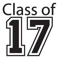 Black Class of 2017 Temporary Tattoos will have you at the top of the class, also available in blue, red, and purple.