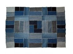 Denim patchwork rug Clothing