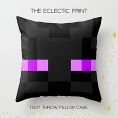 home decor. gifts for enderman. just plain blocky.  No need to visit The End to get this spooky Enderman Pillow Case! Just beware of them picking up blocks, or teleporting out of sight. This accent piece, is a must have!  Front & Back of pillow designs as shown.  ♥ About the pillow case:  ...