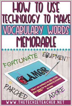 How to Use Technology to Make Vocabulary Words Memorable (The Techie Teacher) Vocabulary Instruction, Teaching Vocabulary, Vocabulary Activities, Vocabulary Words, Teaching Reading, Teaching Tools, Vocabulary Strategies, Academic Vocabulary, Vocabulary Practice