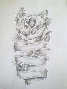 Rose Tattoo Drawing by =Anako-Kitsune on deviantART